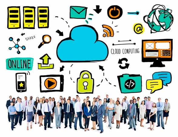cloud computing aspiration team concept
